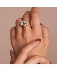 Anna Byers - Metallic Chunky Green Quartz Wing Ring - Lyst