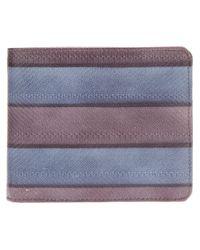 Dries Van Noten Purple Striped Wallet for men