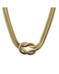 Jemma Wynne - Metallic Love Knot Necklace - Lyst