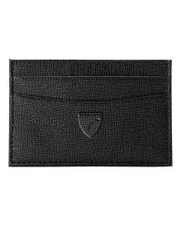 Aspinal Black Leather Slim Credit Card Case
