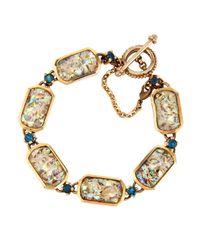 Stephen Dweck Abalone & Blue Topaz Bracelet