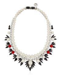 Ellen Conde | White Dipped In Rhodium Necklace | Lyst