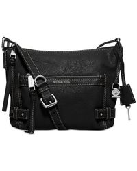 Michael Kors | Black Michael Isabel Small Messenger | Lyst