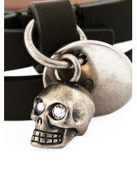 Alexander McQueen | Green Double Wrap Skull Bracelet | Lyst