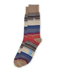 Original Penguin | Natural Thin Stripe Socks for Men | Lyst