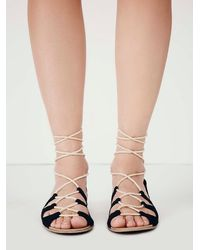 Free People Black Fp Collection Womens Marrakesh Lace Up Sandal