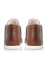 Paul Smith - Brown Loomis Contrast Lace Chukka Boots for Men - Lyst