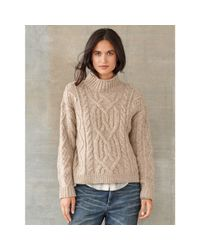 RRL - Natural Tessa Cable-knit Wool Sweater - Lyst