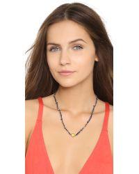 Sogoli | Blue Braided Knot Necklace - Navy/lemon | Lyst