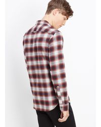 Vince Melrose Engineered Plaid Button Up for men