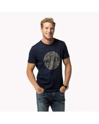 Tommy Hilfiger | Blue Cotton Regular Fit T-shirt for Men | Lyst