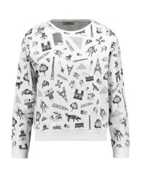 Maison Kitsuné Black Printed Cotton Sweatshirt