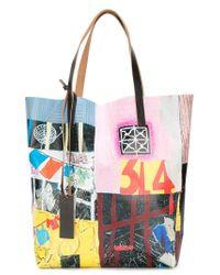 Marni - Multicolor Printed Shopper Tote for Men - Lyst