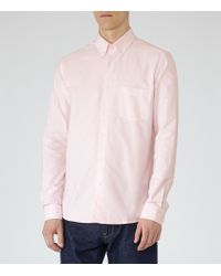 Reiss - Pink Aintree Oxford Shirt for Men - Lyst