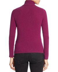 Lord & Taylor Purple Petite Cashmere Turtleneck Sweater