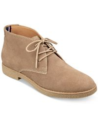 Tommy Hilfiger | Brown Zakry Chukka Booties | Lyst