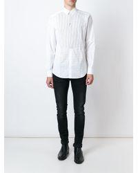 Dolce & Gabbana - White Striped Bib Shirt for Men - Lyst