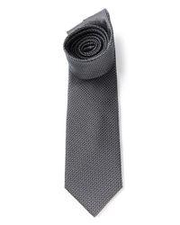 Saint Laurent   Black Micro Patterned Tie for Men   Lyst