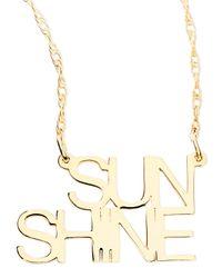 Jennifer Zeuner - Metallic 18k White Gold Vermeil Sunshine Necklace - Lyst