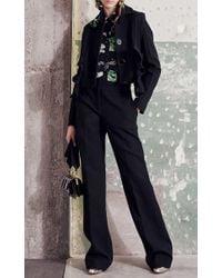 Marni Black Cotton Crepe Ruffle Jacket