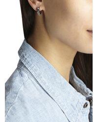 MFP MariaFrancescaPepe - Metallic Silver Plated Spike Hoop Earrings - Lyst
