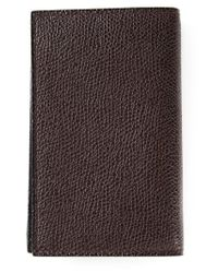 Valextra - Brown Classic Wallet for Men - Lyst