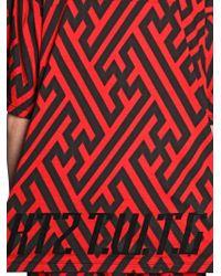 KTZ Red Velvet & Printed Cotton Jersey T-Shirt for men