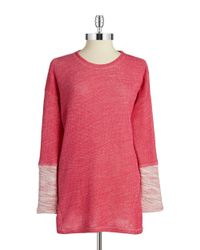 N Natori | Red Knit Sweater | Lyst
