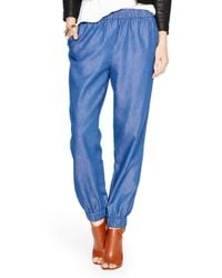 kate spade new york - Blue Chambray Pant - Lyst