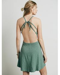 Free People - Green Tatiana Sexy Back Mini - Lyst