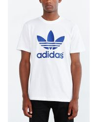 Adidas Originals White Originals Mirror Trefoil Tee for men