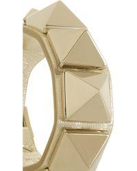 Valentino - Metallic Va Va Voom Studded Leather Bracelet - Lyst
