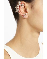 Ryan Storer - Metallic Rose Goldplated Swarovski Crystal and Pearl Ear Cuff - Lyst