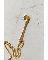 Vitaly - Metallic Sequoia Gold Necklace for Men - Lyst