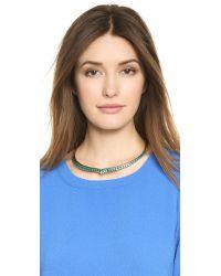 Aurelie Bidermann | Blue Choker Necklace - Gold | Lyst