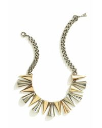 Sarah Magid | Metallic Mixed Metal Cone Necklace | Lyst