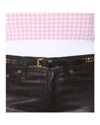 Miu Miu - Black Studded Leather Belt - Lyst