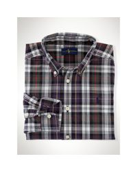 Ralph Lauren Gray Cotton Poplin Shirt for men
