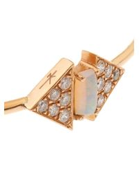 Nikos Koulis - Diamond, Opal & Pink-Gold Bangle - Lyst