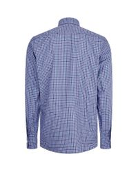 Canali - Blue Modern Fit Check Shirt for Men - Lyst
