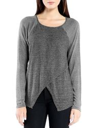 Michael Stars Gray Crossover Front Pullover