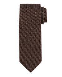 Ike Behar | Brown Chevron Silk Tie for Men | Lyst