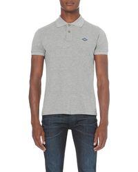 Replay | Gray Logo-patch Cotton-piqué Polo Shirt for Men | Lyst
