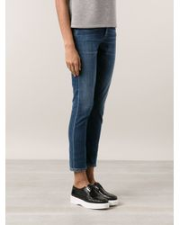 Goldsign Blue 'Jenny' High Rise Skinny Jeans