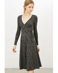 Kimchi Blue | Gray Ribbed Wrap Midi Dress | Lyst