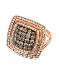 Le Vian | Pink Chocolate And White Diamond Ring (1-5/8 Ct. T.w.) In 14k Rose Gold | Lyst