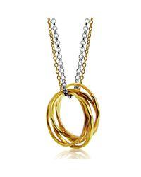 Maya Magal | Metallic Five Strand Ring Pendant | Lyst