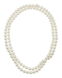 Majorica - White Single-row Endless Pearl Necklace - Lyst