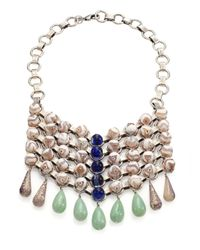 DANNIJO | Metallic Snow Beaded Bib Necklace | Lyst