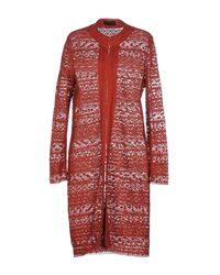 Jo No Fui - Red Full-length Jacket - Lyst
